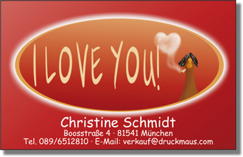 7429 - Visitenkarten I love you